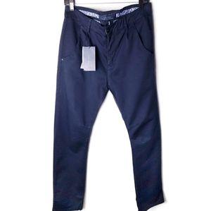 Zara navy slim fit khaki chinos 32x32